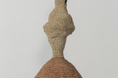 All sculptures are made of linen and wax linen, and are abstracted interpretations of the female figure and the title describes the emotional and physical characteristics of each piece.