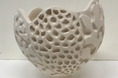 bowl form with coral texture carve.
