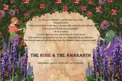 Symmetrical layout of The Rose and the Amaranth.