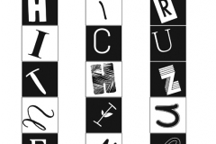 A type grid spelling out the student's name.