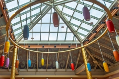 image of colored light fixtures.