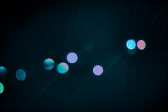 colored abstract orbs.