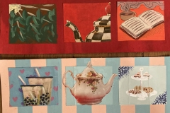 Mood boards depicting two different audiences for The Happy Sip Tea Company.
