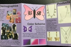Accordian fold pages for Bad Butterfly Bling fashion logo and brand.