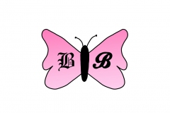 Pink butterfly with BB for Bad Butterfly Bling.