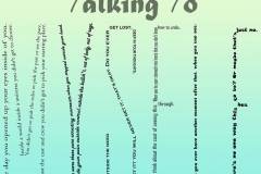 """Lyrics from Talking to Myself spelling out the word """"Myself"""" in all caps"""