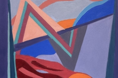 A colorful abstract medley of shapes and line .