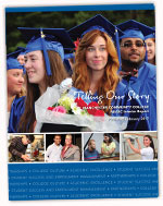 Cover of 2017 NEASC fifth year interim report depicting graduating and smiling students
