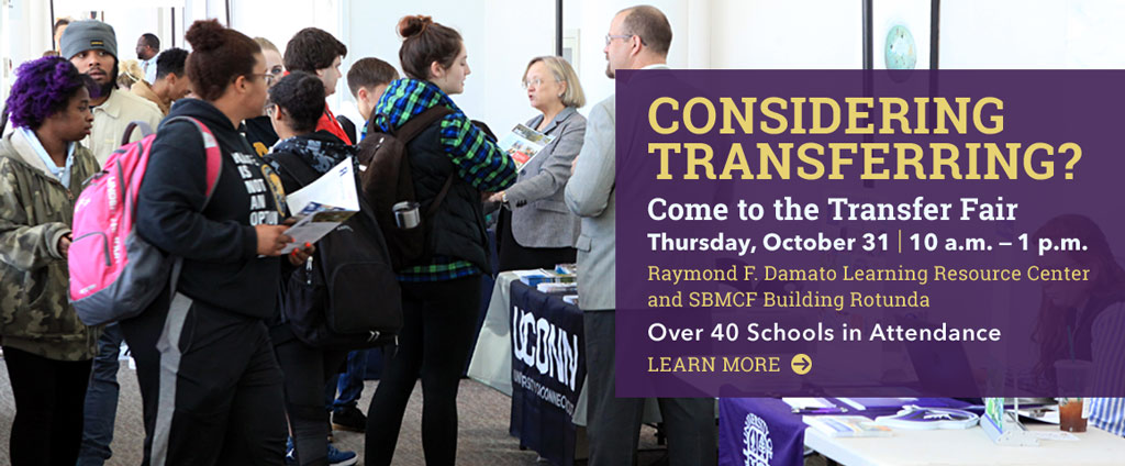 Come to the Transfer Fair on Thursday, October 31 from 10 to 1.