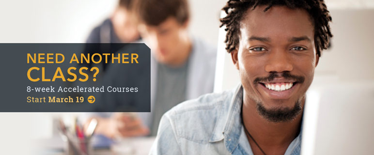 Need another class? Sign up for eight-week classes beginning March 19.