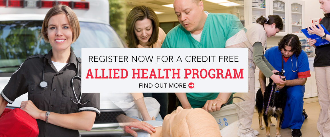 Register Now for a Credit-free Allied Health Program