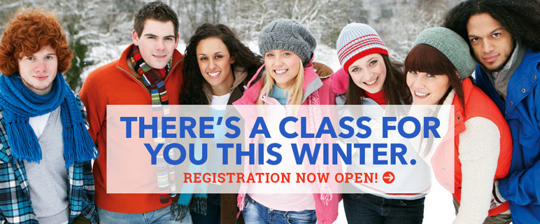There's a class for you this winter and registration is open - links to the winter intersession PDF catalog