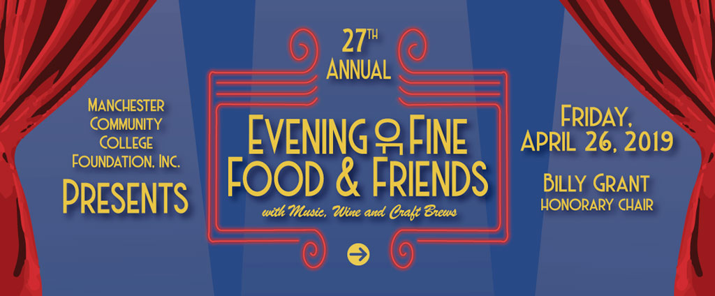 Evening of Fine Food and Friends is Friday, April 27.