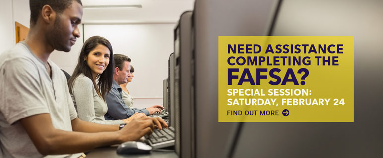 Need assistance completing the FAFSA? Attend session on February 24.
