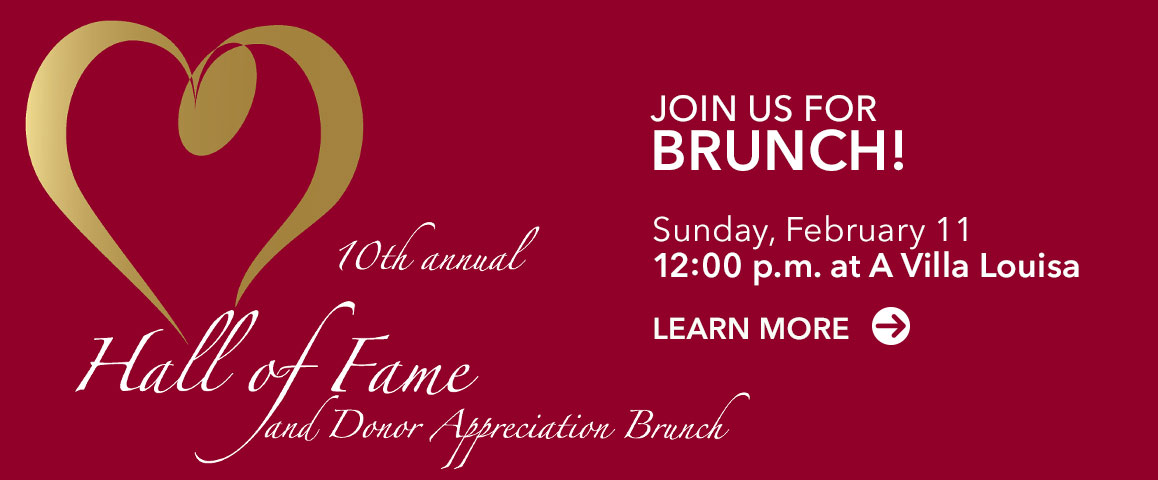 Join us for our Hall of Fame brunch and awards