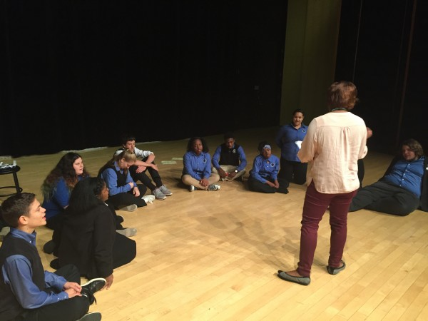 GPA Drama students receive instruction through InterACT from the Hartford Stage.