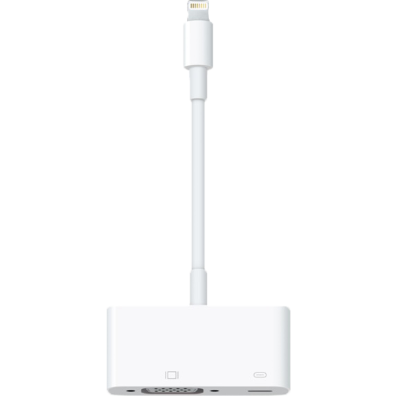 Image of an Apple Lighting to VGA Adapter port.
