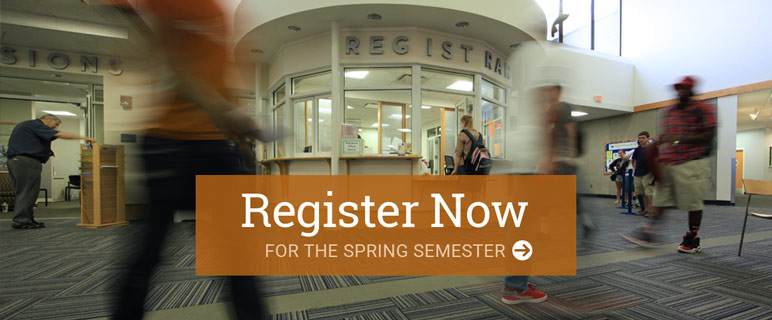 REgister Now for the Spring Semester