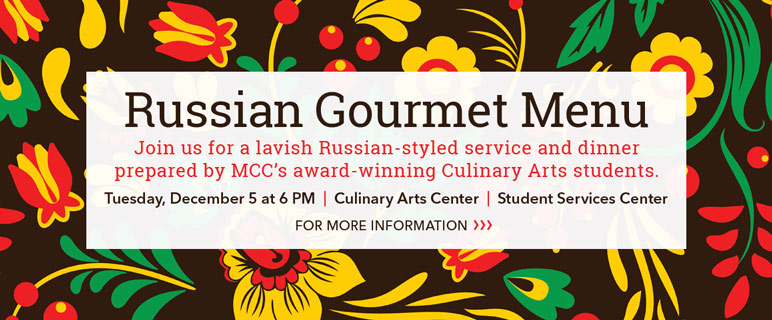 Russian Gourmet Dinner on December 5