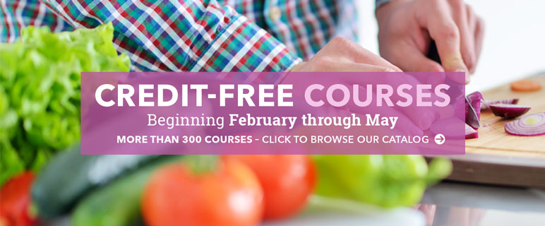 More than 300 credit-free courses beginning February through May