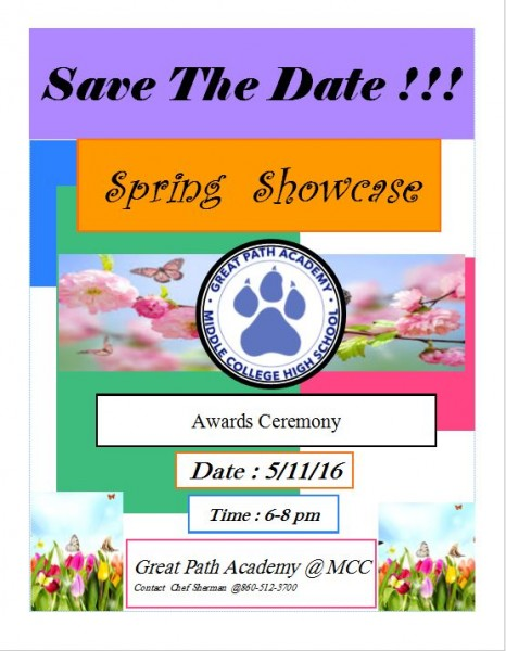 Please join us for the GPA Spring Showcase next Wednesday, May 11th from 6-8 pm!