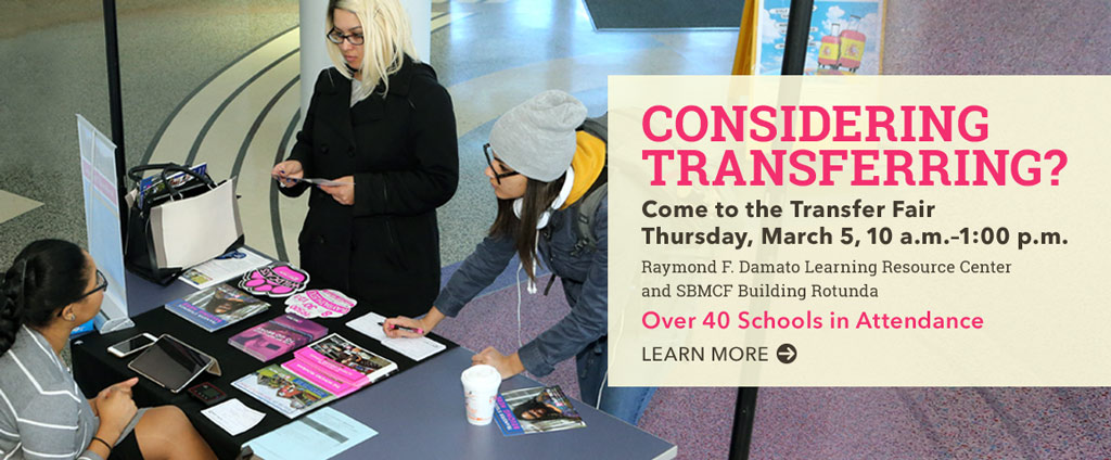 Come to the Transfer Fair on March 5.