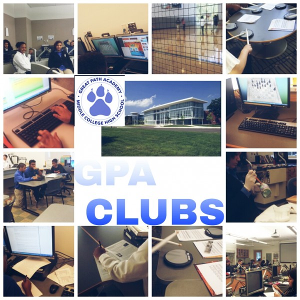 Cammie G., a freshman at GPA, created a photo montage of a sampling of GPA clubs, as a part of her photography extracurricular work.