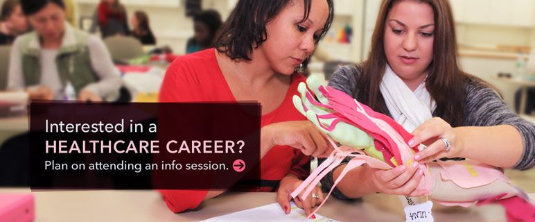 Plan on attending a healthcare career information session.
