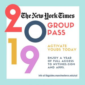 New York Times logo with 2019 in large letters